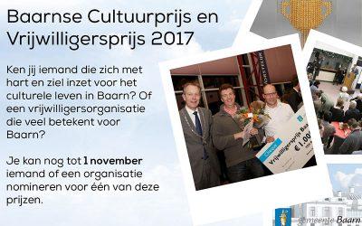 Cultuurprijs Baarn 2017