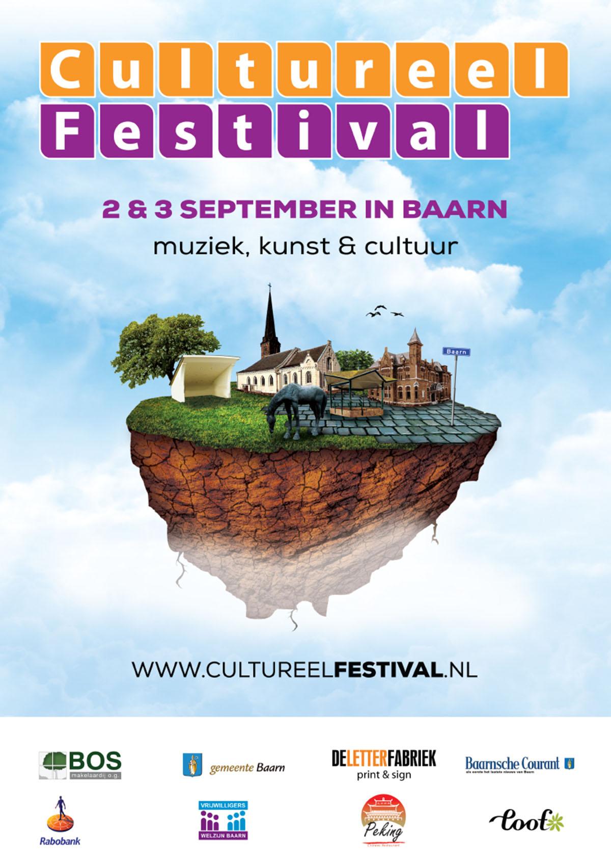 Poster Cultureel Festival Baarn 2016